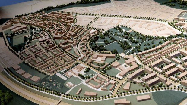 A model of the plans for Cherrywood, Co Dublin. It will have more than 7,700 new homes, six schools, three parks and leisure facilities. Photograph: Cyril Byrne