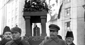 Moscow, December 1934: Stalin carrying the urn of Sergey Kirov, Soviet Union Communist Party secretary for St Petersburg. Photograph: Keystone-France/Gamma-Keystone via Getty Images