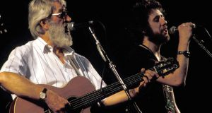 The Dubliners performing with The Pogues. Photograph: Mick Hutson/Redferns