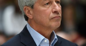 "Jamie Dimon: ""Blockchain is real. You can have crypto yen and dollars and stuff like that."" Photograph:  Andrew Matthews/PA Wire"