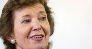 Former president Mary Robinson: she said in recent months the foundation's board  had been considering its  future direction