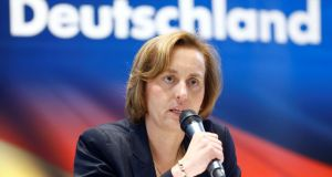 "Beatrix von Storch of Alternative for Deutschland: law has allowed her to stir up resentment against minorities and portray herself as the the victim of the politically correct ""elite"". Photograph: Hannibal Hanschke/File Photo/Reuters"