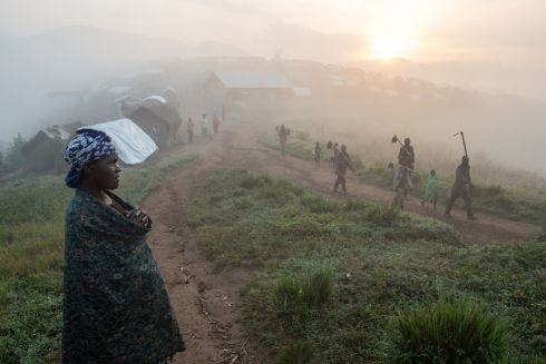 February 2017 - Dawn breaks over the camp for internally displaced people in Mweso, North Kivu state, in eastern Democratic Republic of Congo. The camp, established in 2007, is located about 120 kilometres from North Kivu's capital Goma.  Photograph: : Gwenn Dubourthoumieu / Medecins Sans Frontieres
