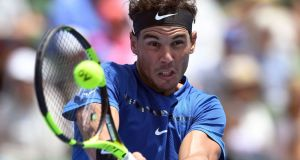 Spaniard Rafael Nadal in action against France's Richard Gasquet during the Kooyong Classic tennis tournament in Melbourne. Photograph: William West/AFP/Getty Images