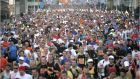The 2010 Dublin marathon:  Fewer people are participating in sport. Photograph: The Irish Times