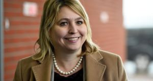 Karen Bradley, the new Secretary of State for Northern Ireland, is, like her predecessor James Brokenshire, one of prime minister Theresa May's home office proteges.  Photograph: Clodagh Kilcoyne/Reuters