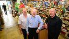 Brothers Barry, Fehan, and Kieran Flood, owners of Churchtown Stores, Dublin. Photograph: Eric Luke