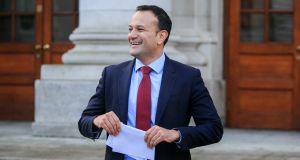 Taoiseach Leo Varadkar declined to give his own position on the abortion question during a media briefing following the first Cabinet meeting of the new year. Photograph: Gareth Chaney/Collins