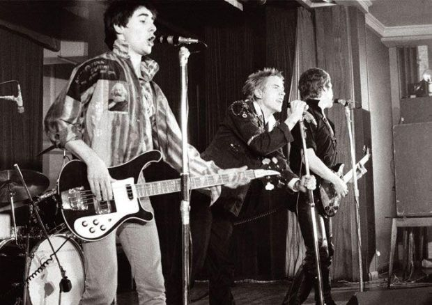 "Glen Matlock, left, with Johnny Rotten and Steve Jones in The Sex Pistols: MacGowan ""really surprised a lot of people with the sheer quality of his songwriting, me included."""