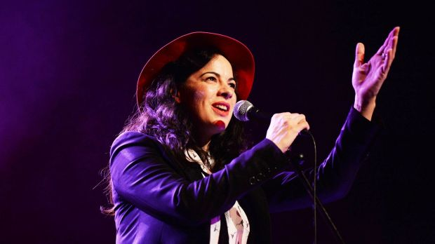 "Camille O'Sullivan: ""The first time I met Shane was singing with him onstage. It was terrifying."" Photograph: Cyril Byrne"