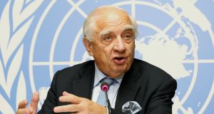Peter Sutherland's final public role was as adviser to the pope and the UN  general secretary promoting a generous and open approach to migrants.  Photograph: Magali Girardin/EPA