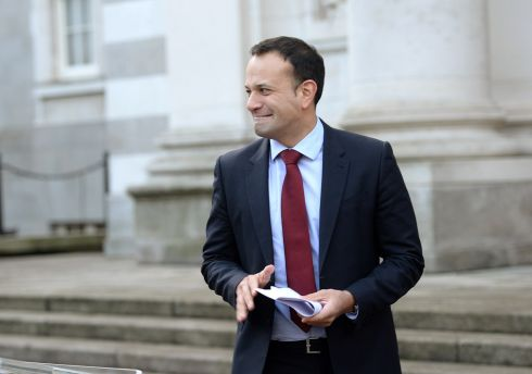 Taoiseach Leo Varadkar after the first Cabinet meeting of the new year at Government Buildings, Dublin. Photograph: Dara Mac Donaill/The Irish Times