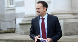 Taoiseach Leo Varadkar:  indicated before Christmas in a briefing with journalists that his views on abortion had evolved. Photograph: Dara Mac Dónaill