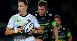 Liam Williams in action for Saracens against Northampton. Photograph: James Crombie/Inpho