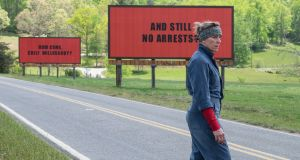 Protest signs: Frances McDormand in 'Three Billboards Outside Ebbing, Missouri'