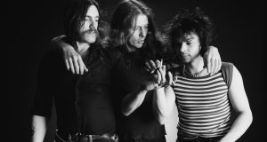 Motorhead's classic line-up: singer and bassist Lemmy Kilmister, guitarist Eddie Clarke and drummer Phil Taylor. Photograph: Fin Costello/Getty Images