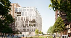 An artist's impression of the proposed development at Embassy Gardens in London