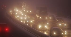 Motorists have been urged to exercise caution on the roads after fog leads to poor conditions. File image: Alan Betson