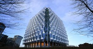 The  new US Embassy at Nine Elms in London. Photograph:  EPA/ANDY RAIN