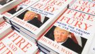 Copies of 'Fire and Fury', Michael Wolff's book on Donald Trump's presidency. Photograph: Getty