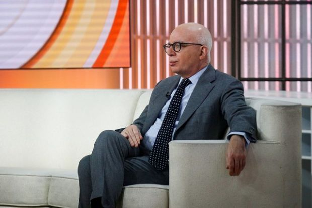 Author Michael Wolff on the set of NBC's'Today show prior to an interview about his book