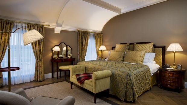 One of the large bedrooms in Castlemartyr, which has hosted the likes of Bill Clinton and Beyonce in the past