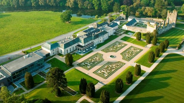 Castlemartyr Spa and Golf Resort in Co Cork, which still has the ruins of the original Norman castle
