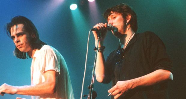 Shane macgowan and me by nick cave glen matlock camille osullivan nick cave and the bad seeds performing on stage with shane macgowan in london 1992 fandeluxe Choice Image
