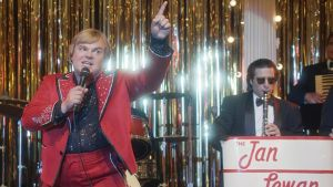 Jack Black and Jason Schwartzman in The Polka King. Photograph: Netflix