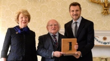 Liam Neeson 'humbled' to receive presidential honour