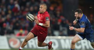 "Simon Zebo: ""My love for Munster could definitely bring me back. I've an incredible connection with the supporters around Munster.""  Photograph: Billy Stickland/Inpho"