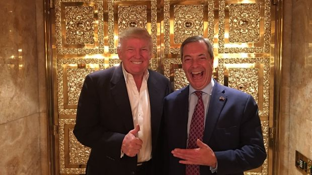 Donald Trump and Nigel Farage. Photograph: PA Wire