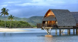The Marriott Momi Bay Resort and Spa in Fiji. Photograph: The New York Times