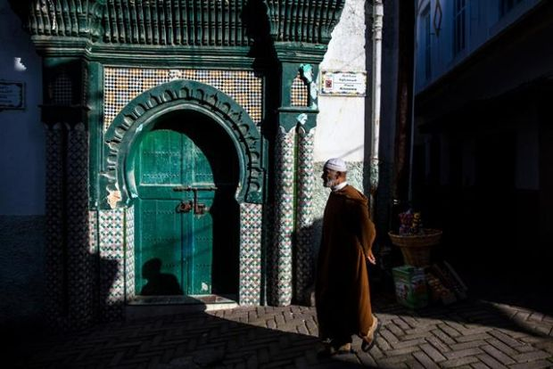 Architecture in Tangier's medina, in Morocco. Photograph: New York Times