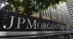 Strong results for JPMorgan lifted financial stocks in the US on Friday. Photograph: Mike Segar/Reuters