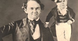 PT Barnum and Tom Thumb, who was by far the most successful touring celebrity on earth