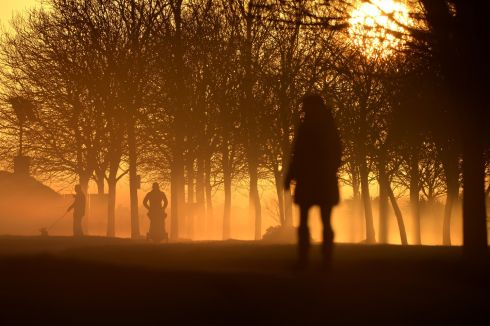 WALK IN THE PARK: Sunrise in Sean O'Moore Park, in Dublin. Photograph: Dara Mac Dónaill/The Irish Times