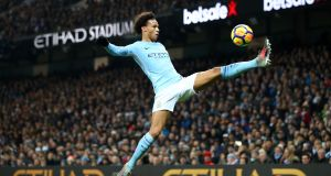 "Leroy Sané: ""It's exciting and for me it's a challenge to see how good I can be, how I can get to the best level."" Photograph: Clive Brunskill/Getty Images"