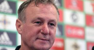 Scotland are to open talks with Northern Ireland manager Michael O'Neill about the vacant Scottish job. Photograph:  Brian Little/Inpho/Presseye
