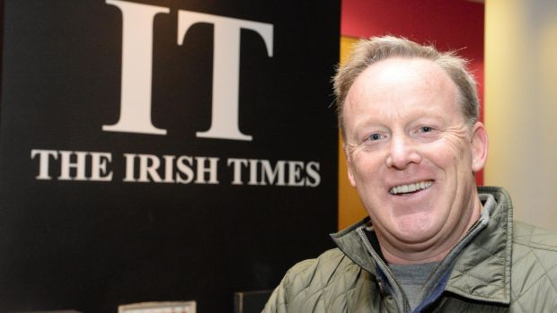Sean Spicer at The Irish Times. Photograph: Cyril Byrne/The Irish Times