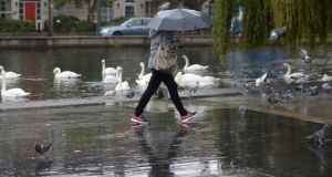Rain is set to die out overnight with Sunday  due to be mostly dry through the morning with sunny spells in some places. Photograph: Alan Betson / The Irish Times
