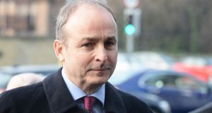 Fianna Fáil leader Micheál Martin  warned against negotiators rushing to microphones. Photograph: Cyril Byrne