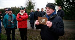 Dave Kavanagh, brother of trainee pilot John Kavanagh who was killed in an Aer Lingus training flight in 1967, at a memorial event on Saturday at the crash site  in Co Meath. Photograph Nick Bradshaw
