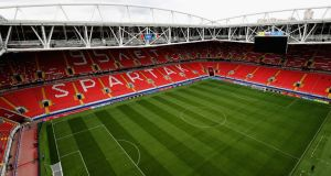 Spartak Moscow's Spartak Stadium, a host venue for the 2018 World Cup. Photograph: Ian Walton/Getty