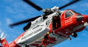 The Shannon-based helicopter Rescue 115 was deployed to help with the incident. File photograph: Rescue 115/Facebook