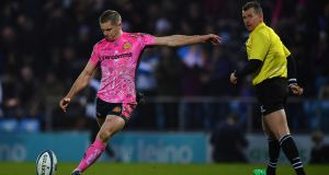 Outhalf  Gareth Steenson has signed a new two-year deal at Exeter. Photograph:  Dan Mullan/Getty Images