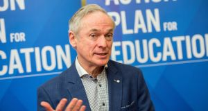 "Minister for Education Richard Bruton says a new funding model for third level will ensure ""innovation, good governance and excellent research are prioritised by our institutions, in line with our overall national goals"". Photograph: Brenda Fitzsimons"