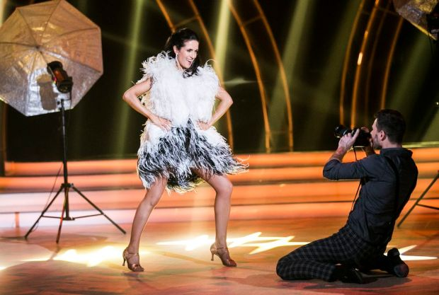 Maia Dunphy dancing the cha cha with Robert Rowinski on Dancing with the Stars. Photograph: Kyran O'Brien/RTÉ