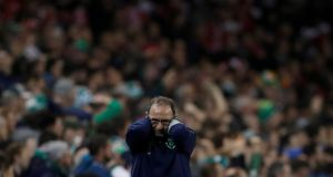 "Ireland manager Martin O'Neill : ""Painful series of bad home performances ended in the disaster of the playoff against Denmark, which was, quite simply, one of the worst defeats in the history of Irish football."" Photograph: Lee Smith/Reuters"