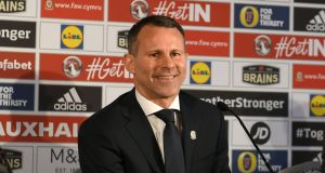 "Wales manager Ryan Giggs: """"I can't wait to start working with the players as we prepare for those crucial games later in the year."" Photograph: Ben Birchall/PA Wire"
